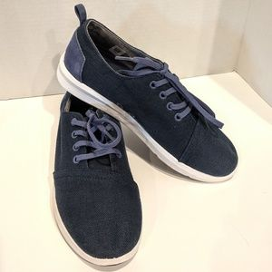 🍪 TOMS Del Ray Navy Blue Canvas Sneakers Mens 7